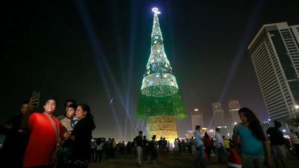 Самая высокая в мире рождественская ель высотой 73 метра