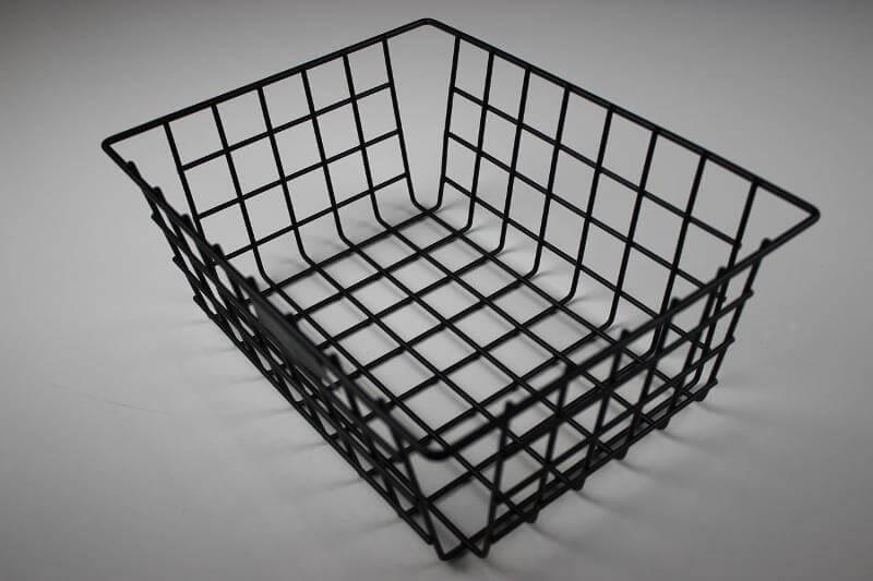 Прямоугольная корзина из стальной проволоки